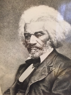 Inmate sketch of Frederick Douglas.