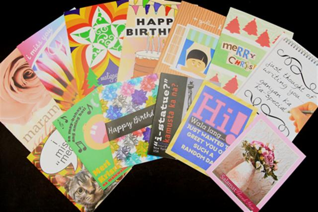 Collection of greeting cards for prisoners.