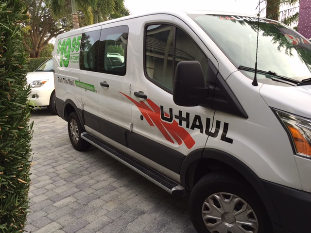 Uhaul van filled with toys ready to make deliveries.